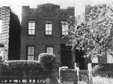 George's birthplace at 242 Snedicker Ave., Brooklyn, NY (since demolished).